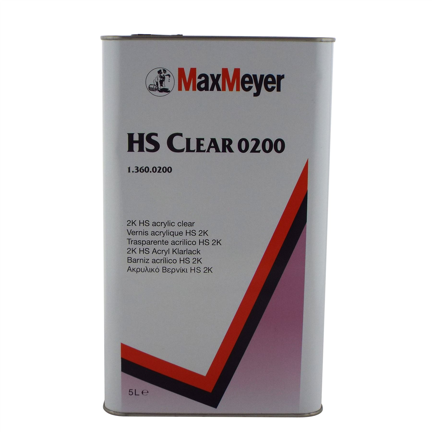 MaxMeyer 0200 Clearcoat 2K Lacquer 5L 2 5L Activator Various