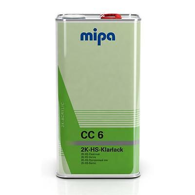 Mipa CC6 2K Clearcoat Lacquer 5L + 2 5L Kit (Various Hardeners)